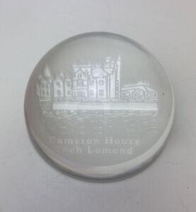 Cameron House Loch Lomond Glass Paperweight B11
