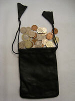 Soft Leather Drawstring Pouch for Taxi Travel and Many Uses