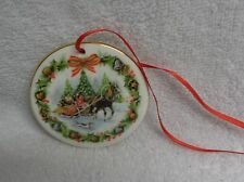 Royal Albert Christmas Sleighride  FF Errill Round China Ornament