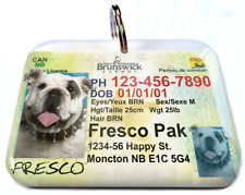 Brunswick Canada Driver License Canadian dog cat tag custom by Id4Pet