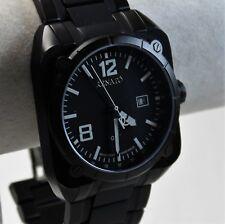 Renato Men's Quadro Watch, Swiss Ronda 515, Black Dial on Black IP Case