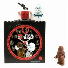 LEGO STAR WARS Japanese Quartz Alarm Clock Chewbacca, Storm Trooper & Gun Turret