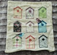Dunelm 100% Cotton Birds Houses Embroidered Cushion Cover