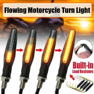 4x Universal 12LED Motorcycle Motorbike Turn Signal Indicators Light Lamp Amber