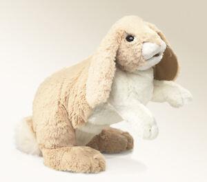NEW PLUSH SOFT TOY Folkmanis 2838 Floppy Bunny Rabbit Full Body Hand Puppet
