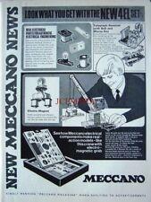 1971 MECCANO Advert '4EL Set' Electro-Magnetic Grab Crane - Vintage Print Ad