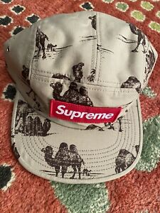 DS 2012 Supreme CAMEL Camp Cap Khaki Beige Red Box Logo RARE! NEW WITH TAGS!