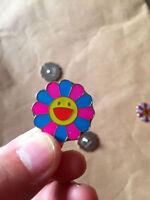 NEW takashi murakami Flower Pink Blue Pin Badge kaikai kiki Mini Metal