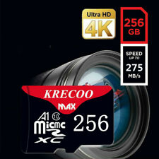 256GB Memory Card Micro SD TF USH-I Class10 4K A1 High Speed Ultra with Adapter