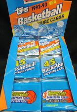 1992-93 TOPPS Basketball Series 2 Rak-Paks 45-Cards per PACK, SHAQ O'Neal Rookie