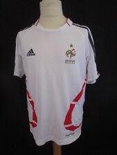 Maillot de football vintage  équipe de France Adidas Blanc Taille 12 ans