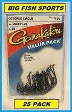 GAMAKATSU #208 OCTOPUS CIRCLE HOOK 25 HOOKS Value Pack 1/0 208411-25 NEW!