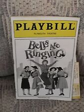 BELLS ARE RINGING Playbill - Faith Prince  Marc Kudisch - FREE SHIPPING
