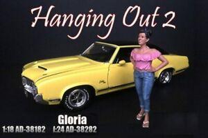 GLORIA FIGURE AMERICAN DIORAMA 38182 1/18 DIECAST CAR