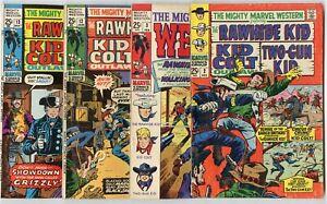 Mighty Marvel Western #2, 3, 12, 13  avg. VG 4.0  Kid Colt  Rawhide Kid  1968