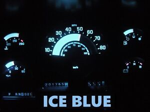 Gauge Cluster LED Dashboard Bulbs Ice Blue For Chevy GMC 88 91 C/K Series Truck