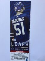 TORONTO MAPLE LEAFS VS NEW YORK RANGERS MARCH 23, 2019 TICKET STUB