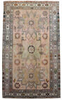 """Distressed Area Rug Hand Knotted Low Pile MUTED COLORS Oushak Rug 4' x 6'10"""""""