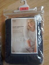 M&S BLACK THERMAL VESTS 2 PACK SIZE 18 BNWT