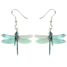 Acrylic Elegant Dragonfly Earrings Drop Dangle Insect Jewelry For Women Girl Kid