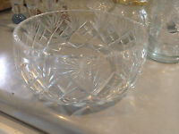 Crystal Cut Round Fruit Bowl