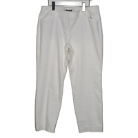 Express Womens Pure White Editor Pants Size 12 Regular Mid Rise Trouser