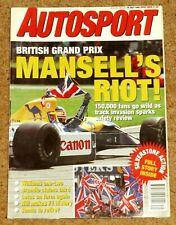 Autosport 16/7/92* 1992 BRITISH GP - HILL'S F1 DEBUT - ROVER 220GTi POSTER