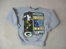 VINTAGE Starter Green Bay Packers Sweater Youth Large Gray Black Football 90s *