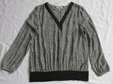 ESPRIT Bluse / Top * gemustert * Langarm * Gr. 42 * leicht transparent