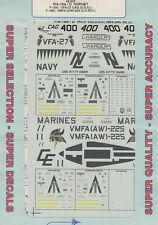 1/48 SuperScale Decals F-18A F/A-18D Hornet VFA-27 F-18D VMFA AW-225 48-502
