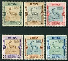 Italien 1934 Eritrea Tieren Set Scott #175-80 MNH M741 ⭐⭐⭐⭐⭐⭐