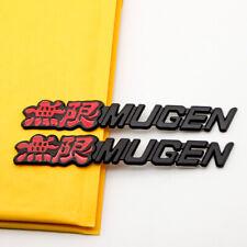 2pcs Rear Trunk Black Metal Mugen Badge Si Car Fender Sport Emblem For Civic Hrv Fits 2012 Honda Civic