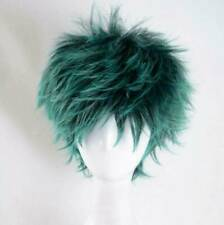 My Boku no Hero Academia Midoriya Izuku Costume Cosplay Short Dark Green Wig