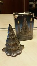 Wm Rogers Silver Pl 00004000 Ated Christmas Tree Candle Holder Italy