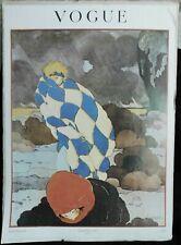 Scarce Lepape Vintage 1970 Vogue Poster WINTER WIND, Conde Nast Magazine