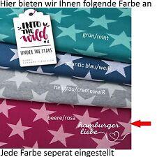 Hamburger Liebe Under the Stars - beere rosa; Bio Jacquard Jersey Sterne