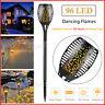 96 LED Waterproof Solar Tiki Torch Light Dancing Flickering Flame Lamp 2-10 Pack