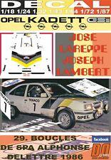 DECAL OPEL KADETT GSI J.LAREPPE BOUCLES DE SPA 1986 12nd (06)
