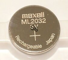 10 pc MAXELL ML2032 ML 2032  3v RECHARGEABLE LITHIUM BATTERY