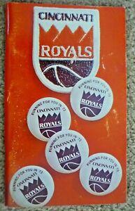 1971-72 CINCINNATI ROYALS  -YEARBOOOK Media Press Guide -NBA -Last Year in Cincy