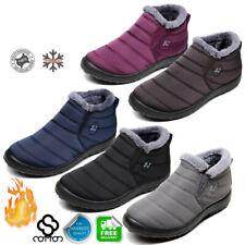 Женские мужские зимние теплые ботинки зимние ботинки мех подкладкой шнуровки лодыжки ботинки водонепроницаемый