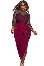 Abito Rete nudo aderente Taglie forti Grandi Curvy Formosa Plus Size Dress XXL