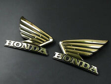 Motorcycle 3D ABS Gold Fuel Tank Emblem Decal Sticker Custom For Honda Wing Pair