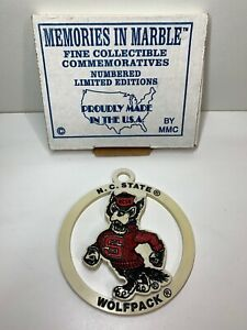 "Memories In Marble NC State Wolfpack Limited Edition 4"" USA Ornament 621/10,000"