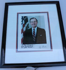 President George Bush Photograph & Signature Don Edwards Congress California
