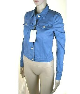 Giacca Jeans Giubbotto Donna KAOS Made in Italy L213 Blu-Avio Tg XS