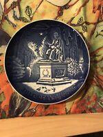 B G Bing Grondahl 1988 Vintage Plate Juleafton Christmas H. C. Anderson Denmark
