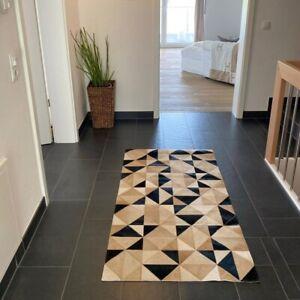 Kuhfell Teppich Dreieck Design Echtfell Qualitätsfell