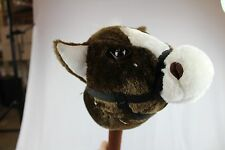 BRAND NEW PLUSH STICK HORSE THAT MAKES WHINNYING NOISES GALLOP SOUNDS
