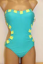 NWT Jessica Simpson Swimsuit Monokini 1 piece Sz M Azure Strap
